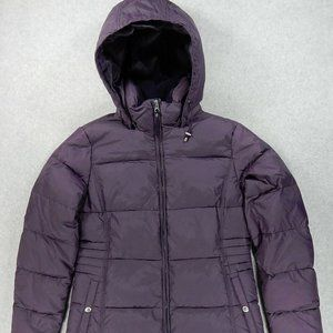 Lands End Down Insulated Long Coat (Womens Small)